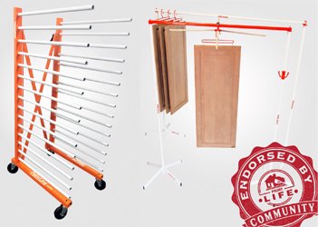 Paintline shows drying racks at National Hardware Show