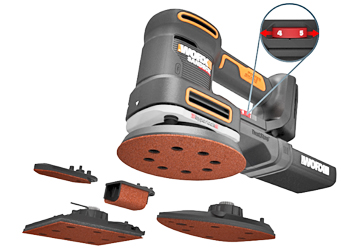 The Worx WX820L.9 is a 5-in-1 sander