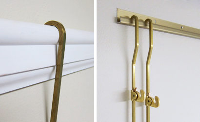 Picture Rail Gallery's brass gallery rod systems
