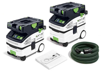 New from Festool USA are two dust extractors, the mini and midi versions of the CT HEPA.