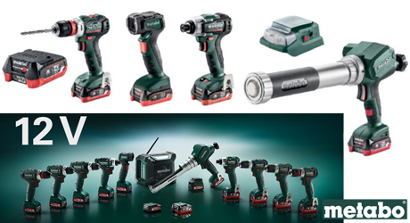 Metabo Introduces the 12V-Class Power Tool Line