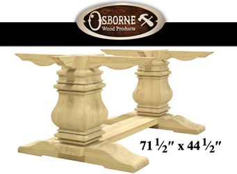 Timeless Trestle Table legset from Osborne Wood Products