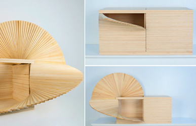 Fan Cabinet by New York artist Sebastian Errazuriz