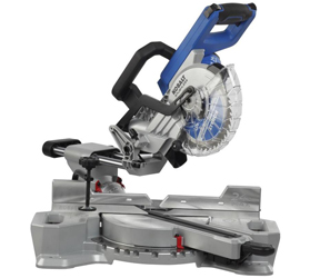 "Kobalt KMS 0724B-03 saw is 24 Volt, 7-1/4"" sliding compound miter saw"