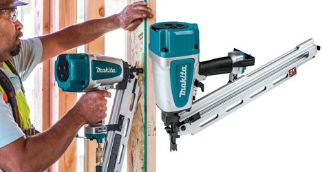 "Makita's new AN924 21º Full Round Head 3‑1/2"" Framing Nailer"