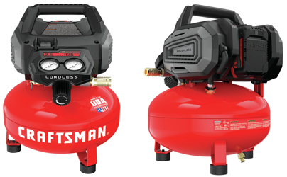 The V20 2.5 Gallon Cordless Air Compressor from Craftsman