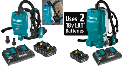 Makita 18V X2 LXT® Backpack Dust Extractor