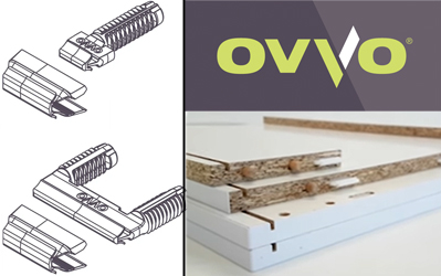 New push-in cabinet connection hardware from OVVO