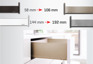 Samet's Flowbox drawer side heights are changed