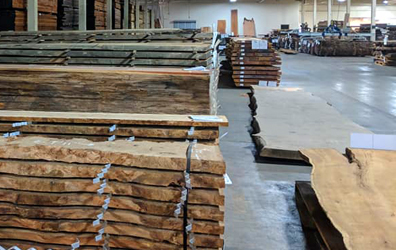 M Bohlke Corps' live edge slab inventory continues to grow