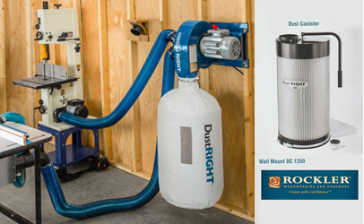 The DC 1250 Wall Mount Dust Collector from Rockler