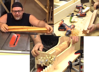 Izzy Swan has uploaded two videos on turning spiral table legs on a table saw