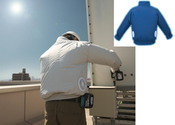 Makita Tools is helping workers deal with warm jobsites by introducing two 18 Volt fan-cooled jackets