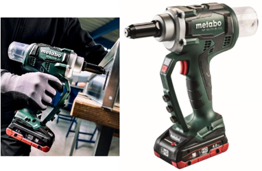 The NP 18 LTX BL 5.0 is a new 18V brushless, compact rivet gun from Metabo Corporation