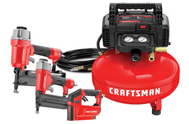 The Craftsman 3 Tool & Air Compressor Combo Kit is ready for use out of the box