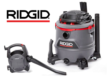 RIDGID's new 16 Gallon NXT Wet/Dry Vac with Detachable Blower RT1600
