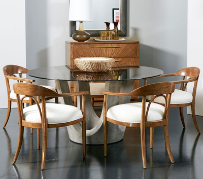 At Left Is Panavista Dining By Richard Schroeder And Denis Kissane For Stanley Furniture In High Point The Company Was Founded 1924 Thomas B