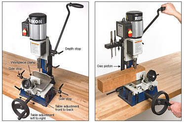 Woodworking news and new woodworking tools lee valley now offers rikon mortiser keyboard keysfo Images
